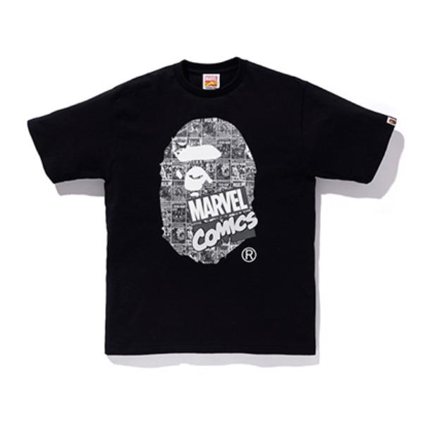 Bape Marvel Comic Ape Head Tee 1F23110927