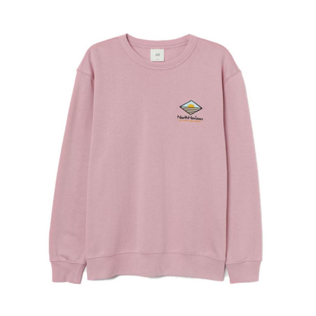 H&M 宽松加绒秋冬情侣卫衣 0891890