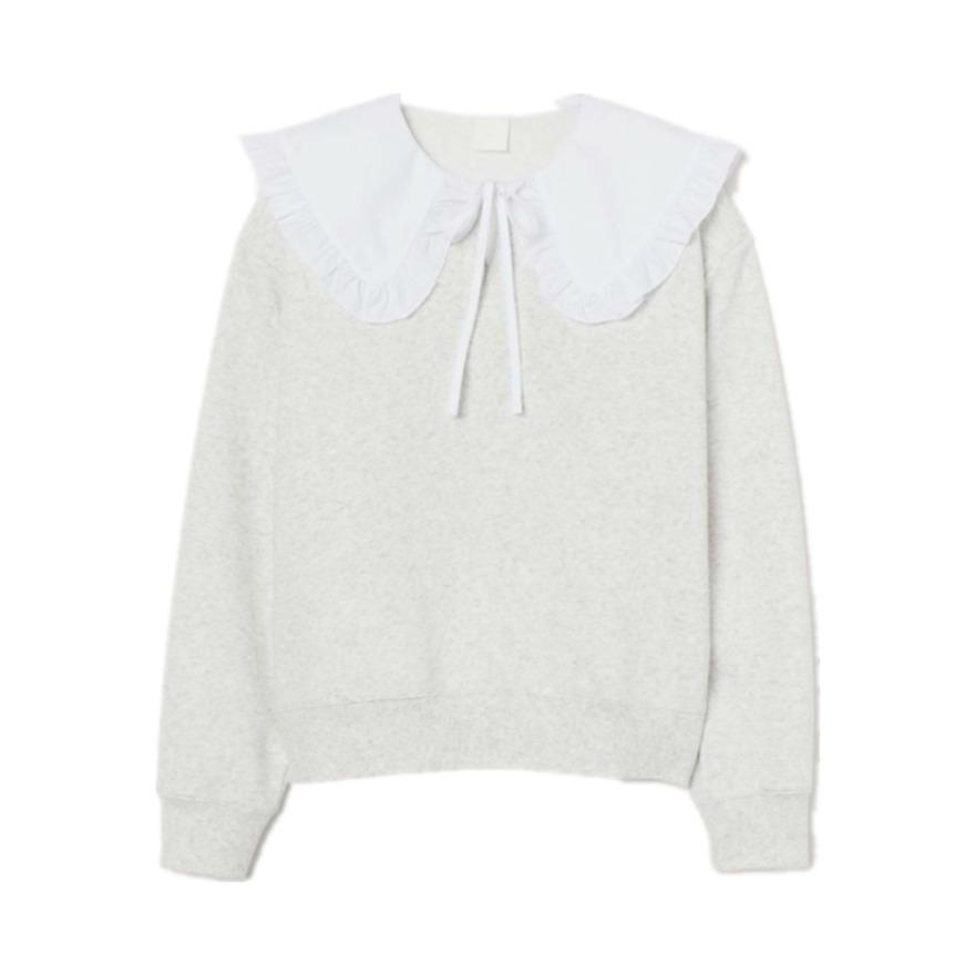 H&M 简约百搭娃娃领甜美风卫衣 0910477
