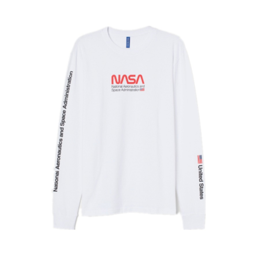 H&M NASA印花圆领流行上衣 0782904
