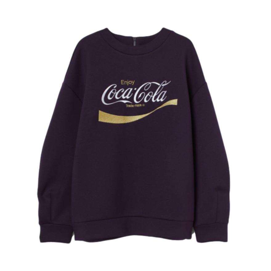 H&M 可口可乐联名宽松卫衣 0916957