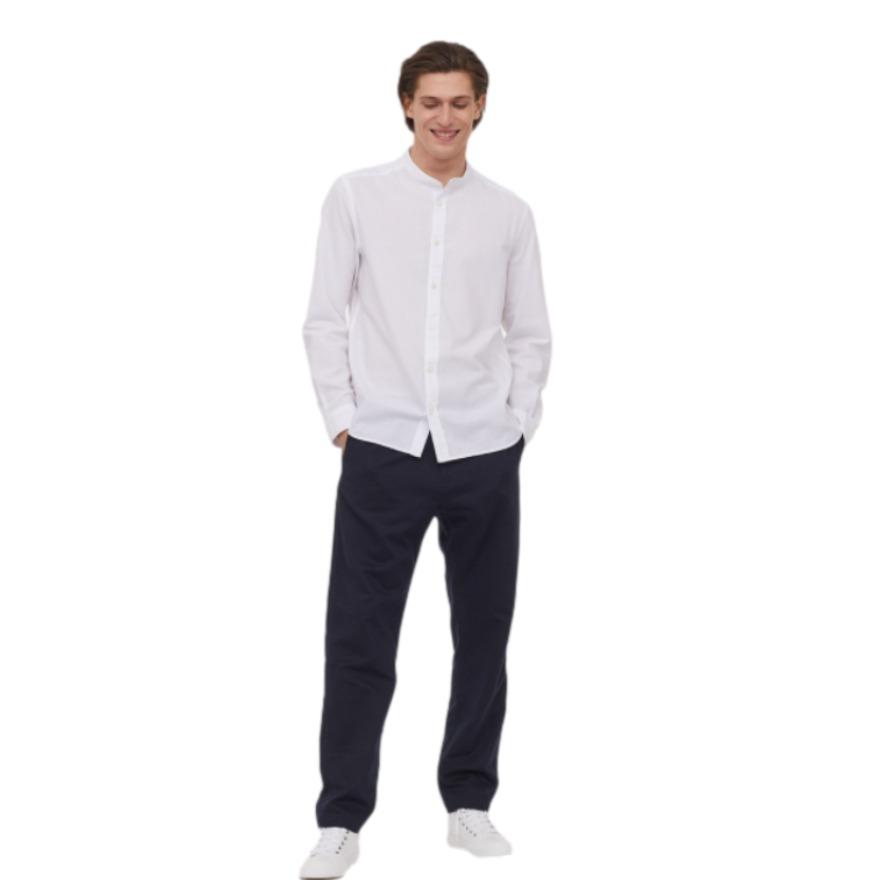 H&M 亚麻混纺梭织休闲长裤 0826141