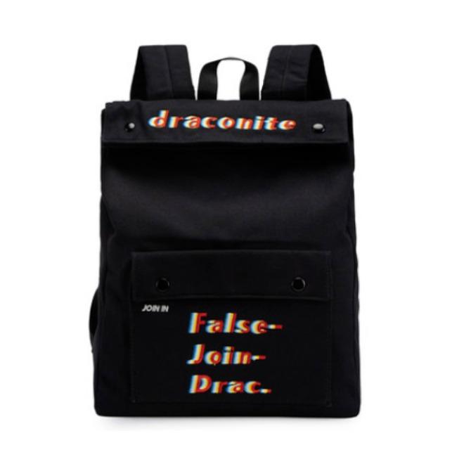 DRACONITE 休闲简约大容量国潮原创新品特色刺绣双肩包 11837