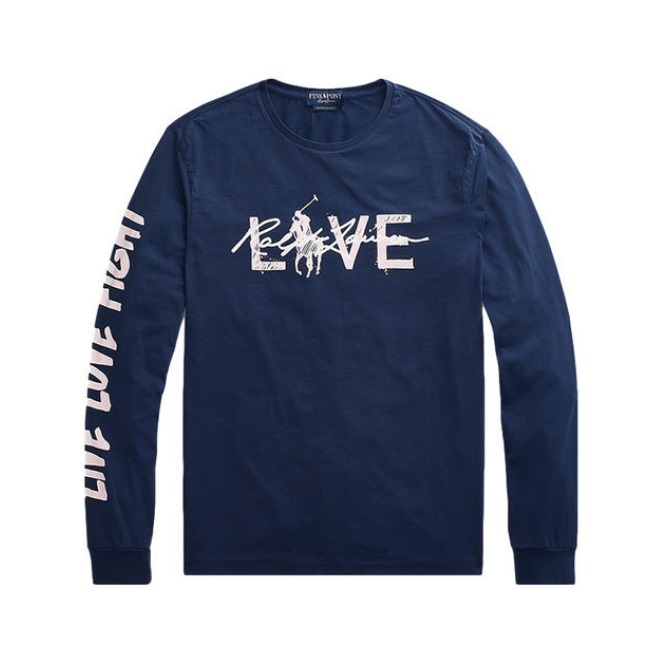 Ralph Lauren 经典PINK PONY Live Love长袖T恤 11526