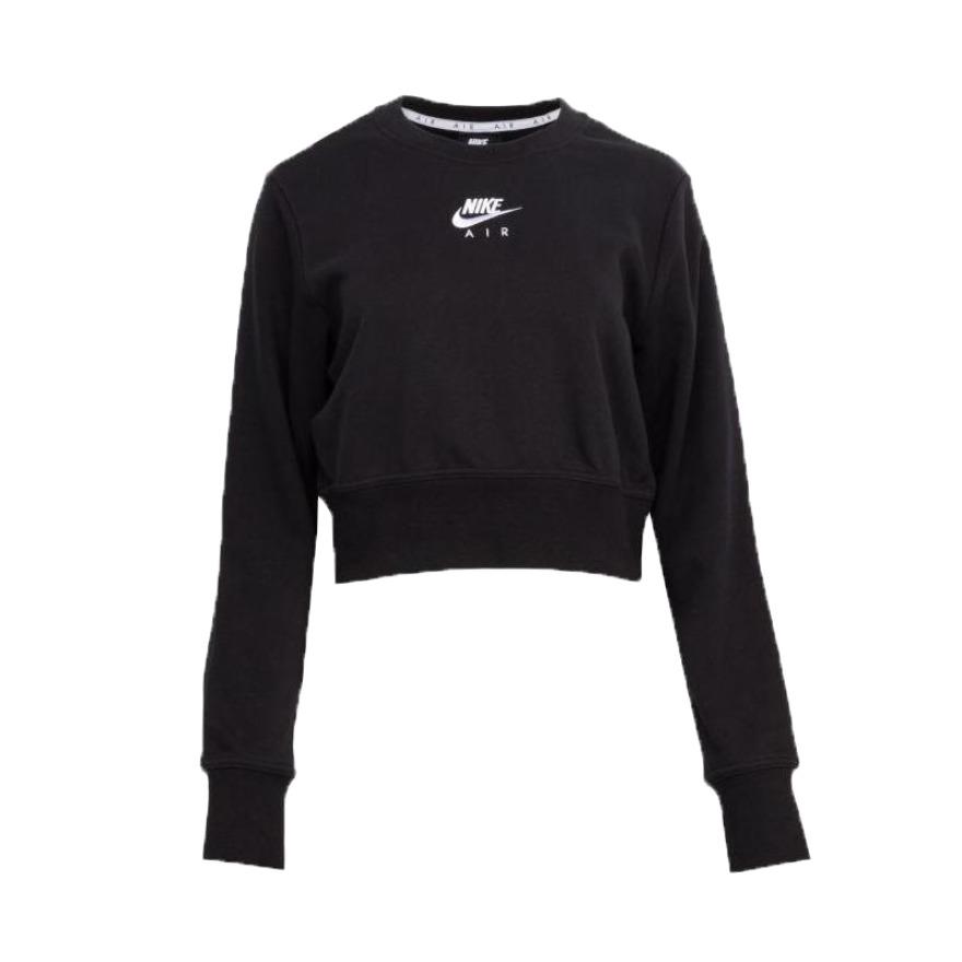 Nike 女装 2021AW 圆领图案经典黑色LOGO透气运动短袖T恤 DC5296