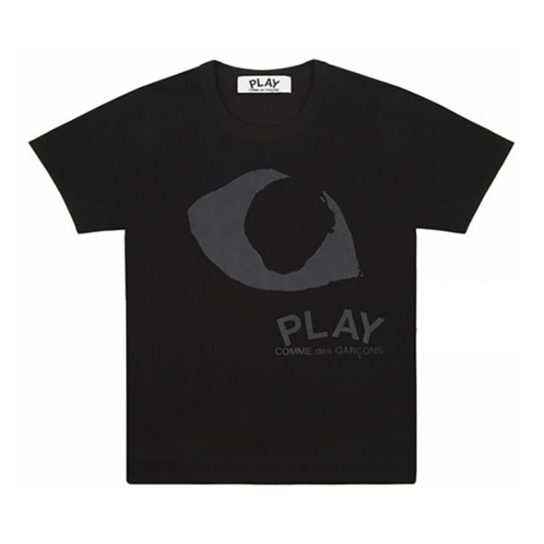 CDG川久保玲play 黑色大眼睛短袖T恤