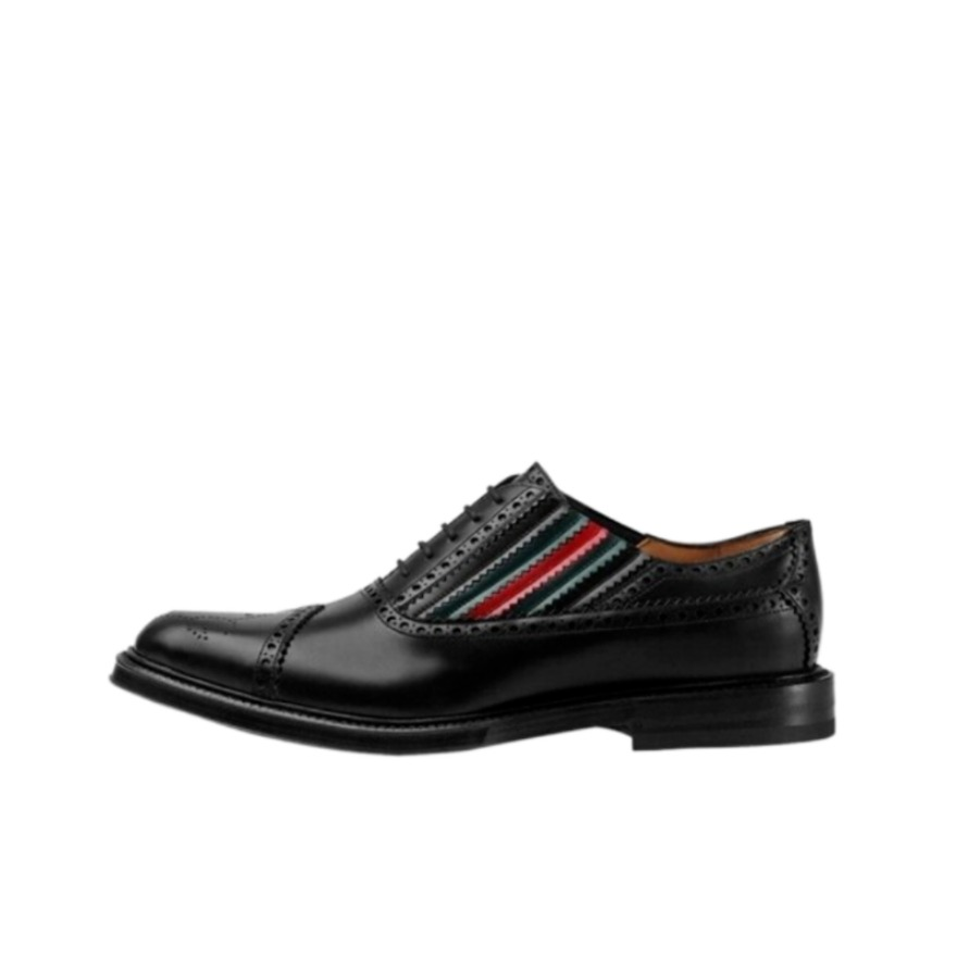 Gucci 古驰 条纹商务皮鞋 547592