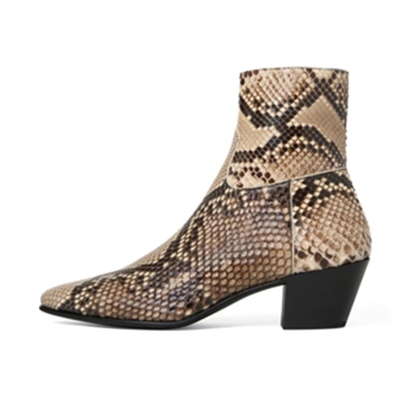 Celine 亮泽蛇皮革 踝靴 340604193C.02VG