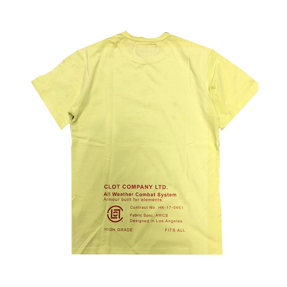CLOT 18ss 反战和平logo情侣款宽松短袖T恤
