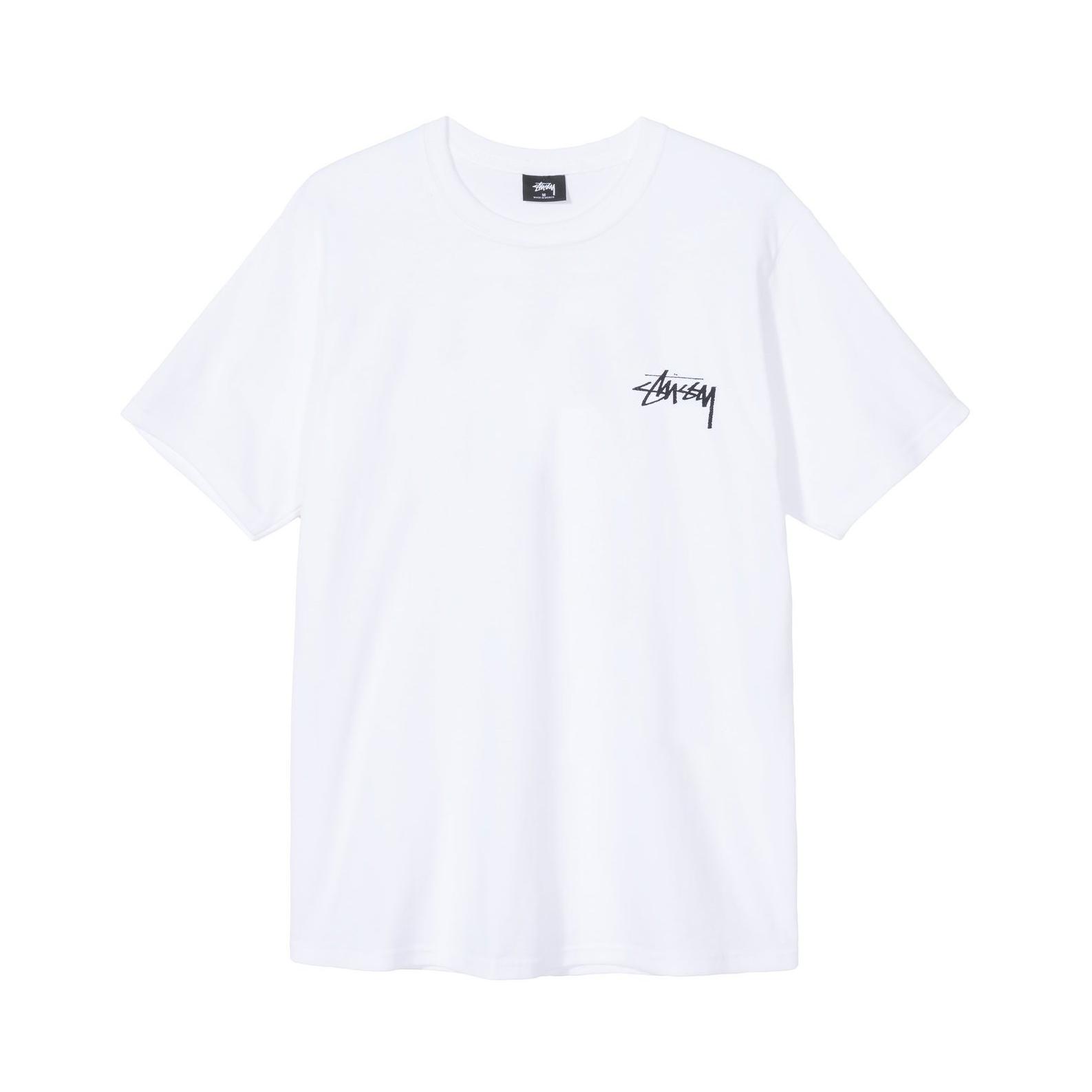 Stussy 鲤鱼花短袖T恤