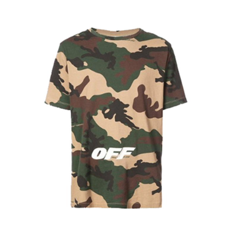 OFF-WHITE 18SS 迷彩短袖T恤 OMAA027E181850219901-CA06
